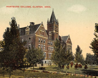 Vintage 1920's Postcard Wartsburg College, Clinton, Iowa Unused