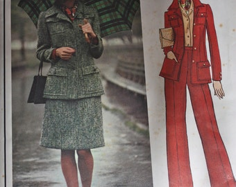 ON SALE Vogue Paris Original Jacket, Skirt and Pants Pattern by Balmain---Vogue 2965---Size 14 Bust 36 UNCUT