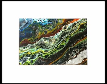 Original acrylic painting- 5x7, matted to 8x10 (0828-04)