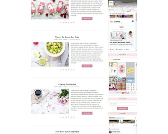 Wordpress Theme Responsive Marigold - Genesis Child Theme - Wordpress Template - Wordpress Blog - Blog Design - Ecommerce