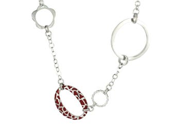 Red Leopard Linked Necklace