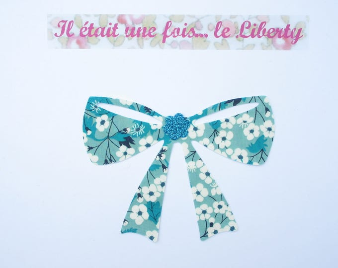 Applied liberty node liberty Mitsi Mint glitter flex fusible pattern fusible applique bow patch iron on patch