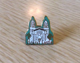 Vintage Hearst Castle Enamel Pin | Souvenir | San Simeon, CA |