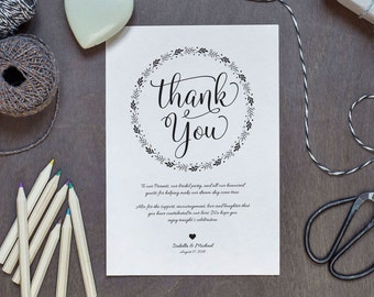 Wedding Thank You Printable Template, Thank You Card Template, Printable Thank you, Thank You Template, Thanks Template, WPC_27