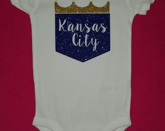Kansas city royals personalized baby headband kc baseball kansas city royals baby bodysuit creeper one peice kc royals kc royals negle Image collections