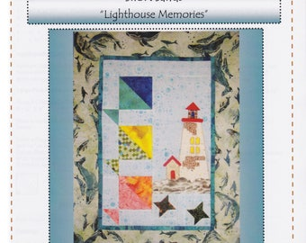 Lighthouse Memories, Robin's Quilt Nest, Short Sands Block of the Month Quilt Pattern Series, Block 3, Lighthouse