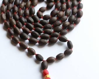 Lotus seed kamal gatta Japa mala 108+1 beads hindu prayer yoga meditation japa mala