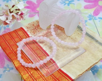 Natural Rose Quartz gemstone bracelet