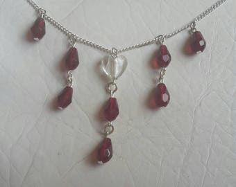 Crystal necklace/ Vampire necklace