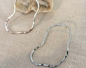 Dali inspired Wave earrings in sterling silver