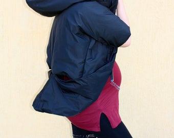 Jacket /black jacket /vest /black vest /extravagant jacket /jacket with hood
