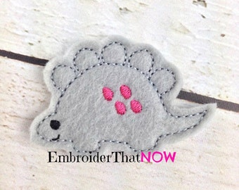 Stegosaurus Feltie Embroidery Design File