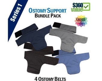 PouchWear Ostomy Support Bundle Pack | Series One: 4 Belts