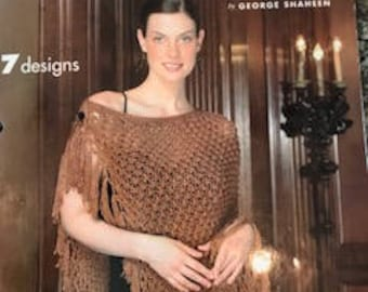 Knit Ponchos pattern book - Used but in excellent condition