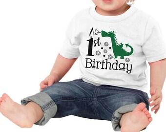 1st Birthday Dragon Children's Bodysuit Creeper T-Shirt for Baby Boy Toddler Kid First Gift Idea Present Mythical