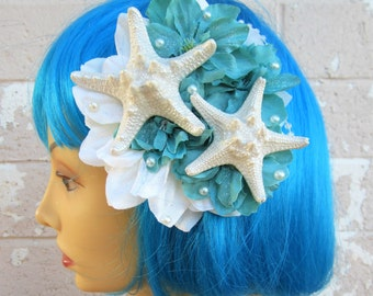 Wedding Starfish Hair Clip, Pinup Mermaid, Starfish Hair Clip, Destination Wedding