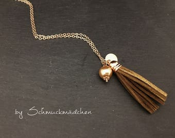Rose gold chain tassel