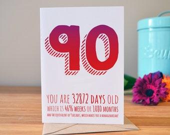 40th Birthday Card Milestone Personalised