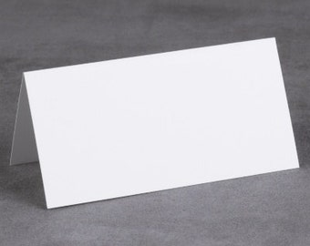 Bright White Place Cards Blank (Pack of 25) Weddging Decorations