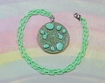 Decora Necklace, Fairy Kei Necklace, Pop Kei Necklace, Mint Cholate Chip Cookie Necklace, Magical Girl Necklace, Kawaii Cookie Necklace