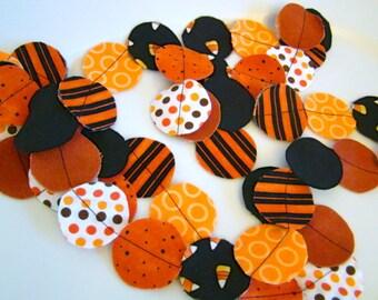 Fabric Garland Halloween party decoration Orange and Black 12 feet