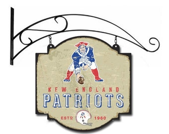 New England Patriots Tavern Sign With Bracket