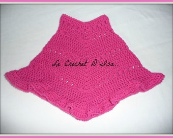 PONCHO / CAPE baby CROCHET costs of shipping