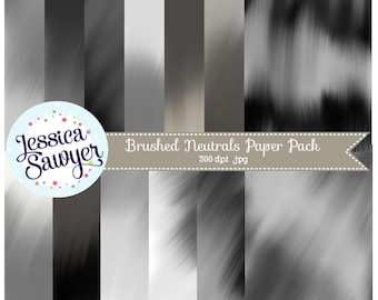 INSTANT DOWNLOAD, black and white textured digital papers or backgrounds