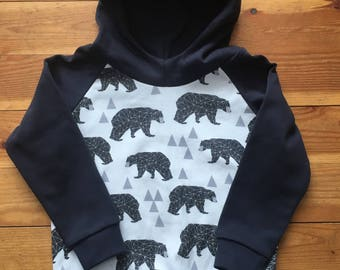 2T - Organic Cotton Hoodie with Lined Scuba Hood