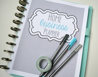 Home Business Planner, Small Business Planner Printables, Letter + Half Size Included, 18 Pages each, Instant Download, Editable
