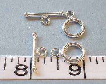 925 sterling silver toggle clasp 12 mm/TWO SET