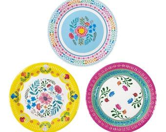 Floral Boho Plates // Llama Party Theme // Party Decorations // Boho Llama Theme Party // Mexican Party // Summer // Party Plates // Stylish  sc 1 st  Etsy & Boho paper plate | Etsy