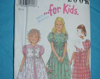 New Look 6625 Girls Special Occasion Dress Sewing Pattern  UNCUT  Size 3 - 8