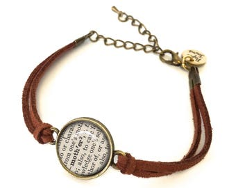Mother Dictionary Bracelet - Made from a vintage dictionary. Unique Mother's Day Gift, Birthday Gift, Graduation Gift, Gift for Her.