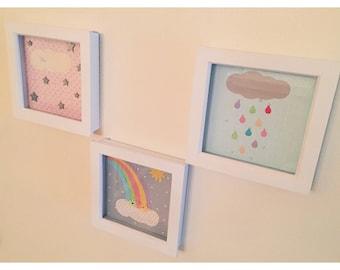 Set of 3 nursery art