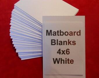 Passe-partout blanc blancs dos passe-partout 4 x 6 pour les Photos Art et l'artisanat