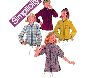 Simplicity 8620 Womens Blouse Shirt Jacket 70s Vintage Sewing Pattern Size 10 Bust 32 1/2 Inches UNCUT Factory Folded