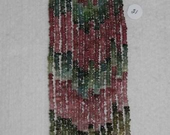 Tourmaline, Multicolor Rondelle, Faceted Rondelle, Tourmaline Bead, Semi Precious, Gemstone, Translucent, Strand, 3mm, #21, AdrianasBeads