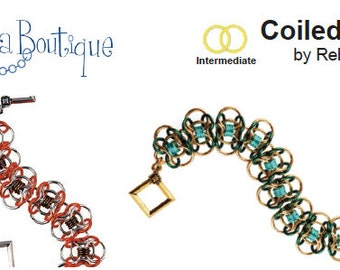 Chainmaille Tutorial- Coiled Butterfly - PDF