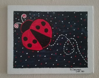 Ladybug in the Night