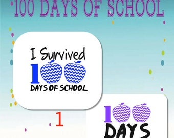 I Survived 100 Days of School/100 days Smarter/Decls/Vinyl/Shirts/Iron-ons