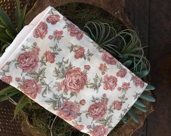 Vintage Floral Burp Rag