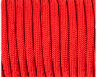 Paracord 550 Type 3 - Red - Genuine Mil Spec Parachute Cord