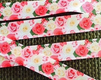 Rose ribbon, flower ribbon
