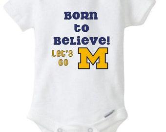 University of Michigan fan, Univeristy of michigan baby, university of michigan shirt, university of michigan toddler, u of m custom shirt