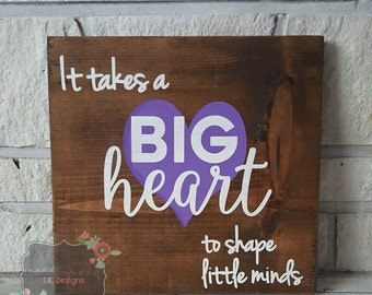 Big Heart Wood Sign