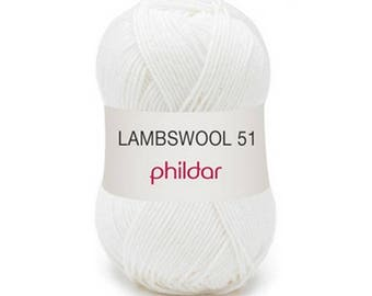 "wool LAMBSWOOL white ""Garance"""