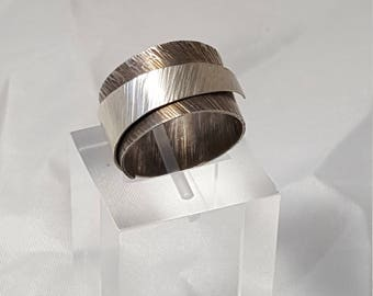 Steriling Silver Wrap Ring - Textured STSWR1001
