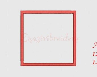 Square Applique, Tatami and Filled Embroidery Design