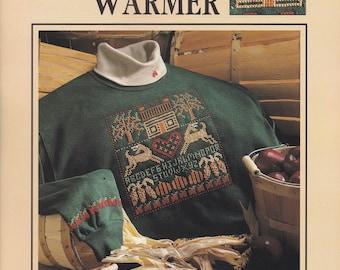 Fall Warmer, Leisure Arts Lites Seasonal Cross Stitch Pattern Booklet 83010